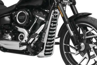 SL FB FXBB BR Kuryakyn Chrome Lower Front Engine Cover for Harley 2018 FLHC SB FB and LR Models DE
