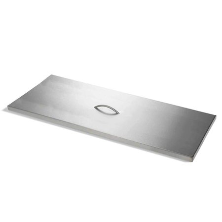 Hearth Products Controls Rectangle Stainless Steel Fire Pit Cover, 34