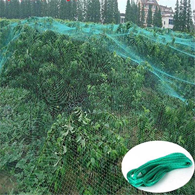 Anti Bird Net, Green Garden Plant Fruits Fence Mesh Net, Protect Fruits Vegetable from Rodents Birds, Easy to install, Practical Secure Durable Anti Bird Net