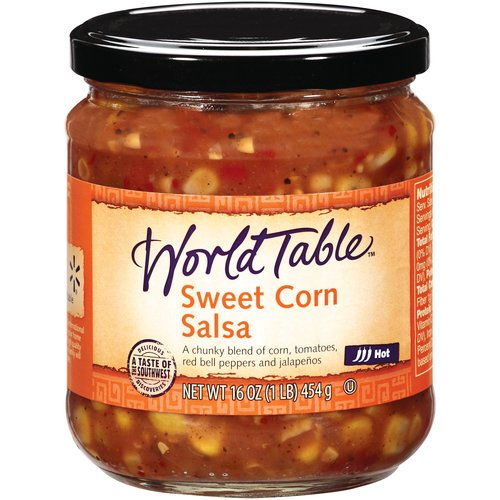 World Table Sweet Corn Hot Salsa, 16 oz