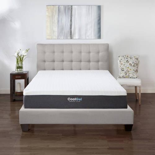 "Modern Sleep Cool Gel 12"" Ventilated Gel Memory Foam Mattress, Multiple Sizes"