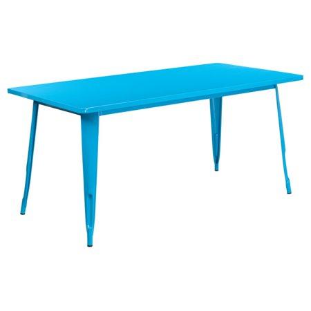 Flash Furniture 31 5 X 63 Rectangular Metal Indoor Outdoor Table Multiple Colors