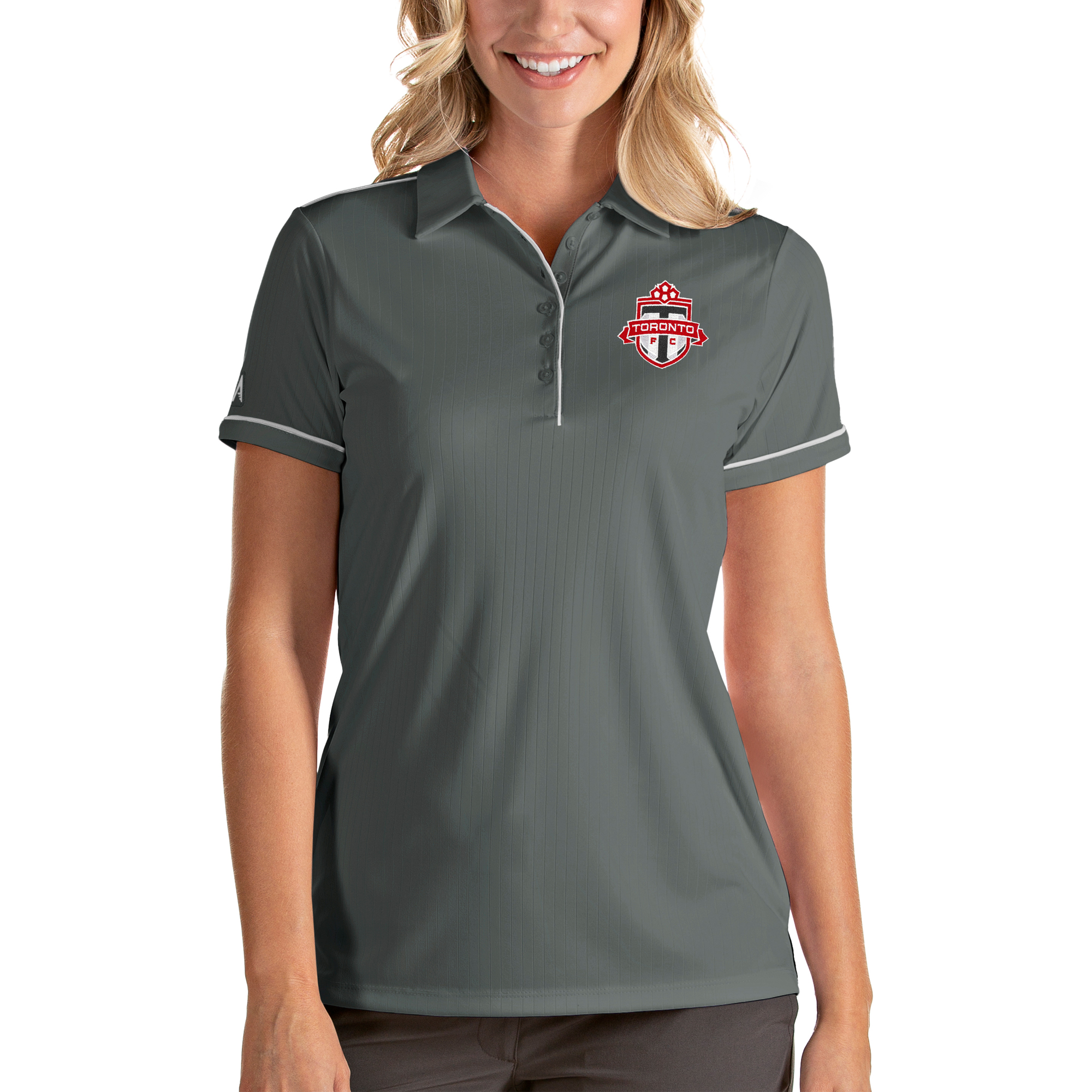 Toronto FC Antigua Women's Salute Polo - Gray/White