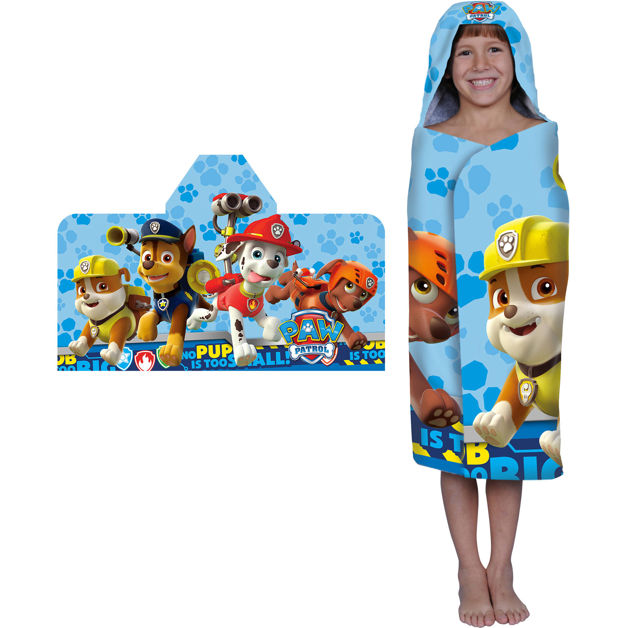 Nickelodeon Paw Patrol Rescue Crew Hooded Bath Towel
