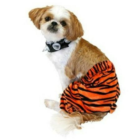 Punk Rock Dog Costume Orange Tiger Stripe Pet Outfit & Choker (Punk Rock Outfits)