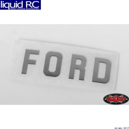 RC 4WD VVV-C0542 Ford Emblem for 1/18 Blackjack Body (Silver) ()