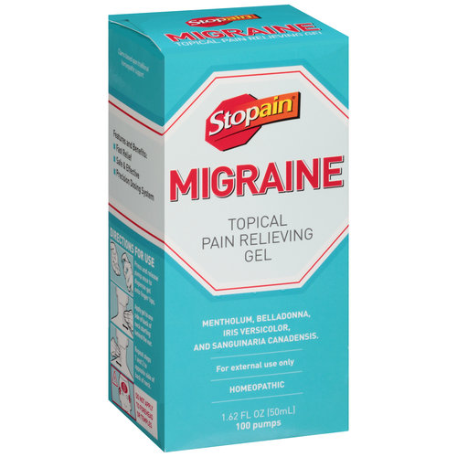 Stopain Migraine Topical Pain Relieving Gel, 1.62 fl oz