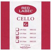 Super Sensitive Red Label Cello G String  1/2