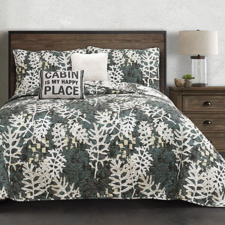 King 5pc Camouflage Quilt Set Green - Lush Décor