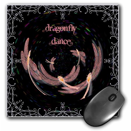 3Drose Dragonfly Dance Orb  Mouse Pad  8 By 8 Inches