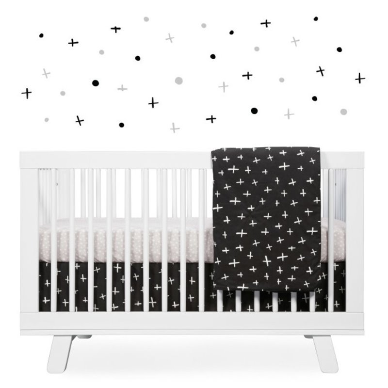 Babyletto Tuxedo Monochrome 5 Piece Crib Bedding Set