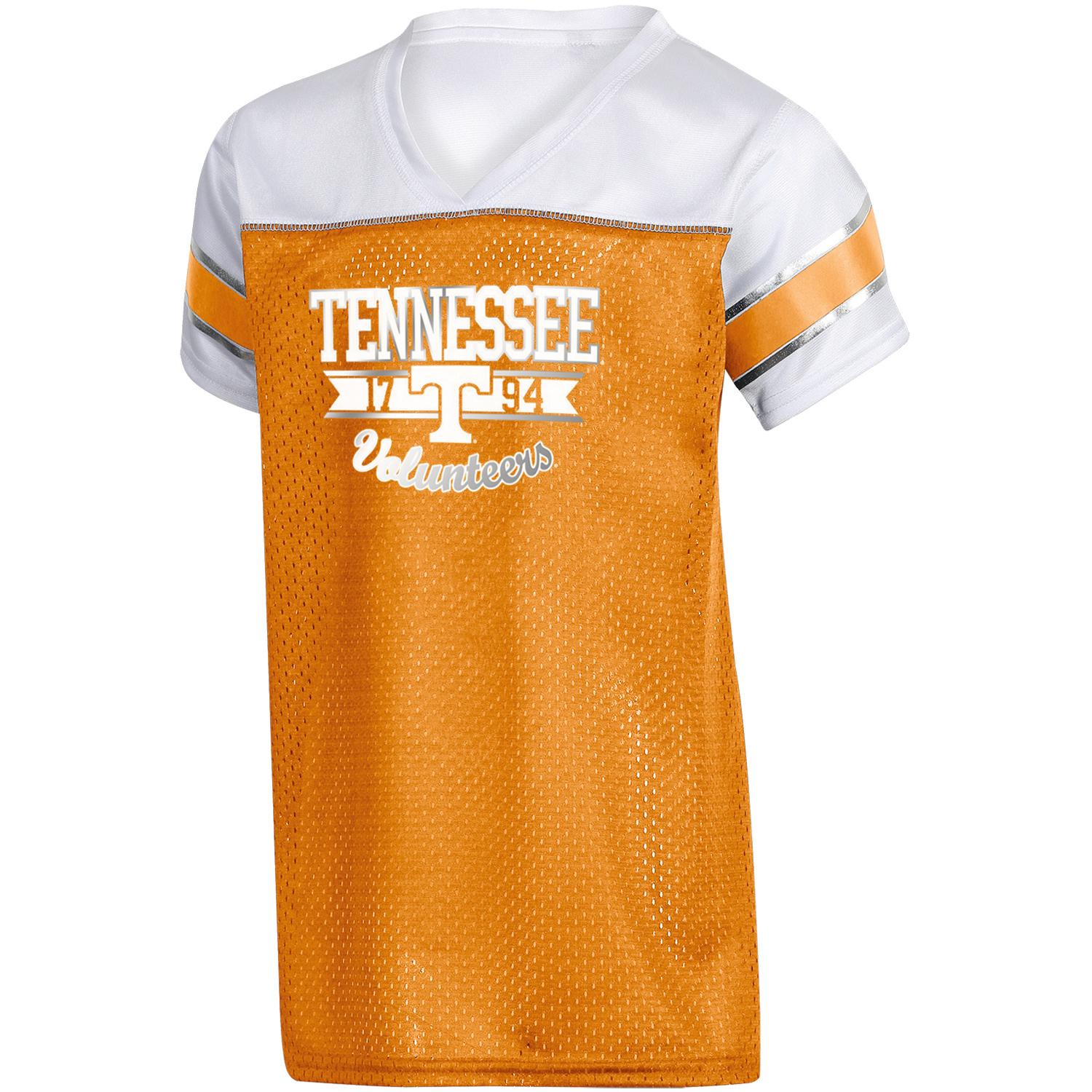Girls Youth Russell Tennessee Orange Tennessee Volunteers Team V-Neck T-Shirt