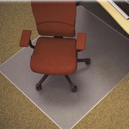 lorell medium plush pile carpet beveled edge chair mat