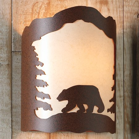 Metal Art Bear Sconce