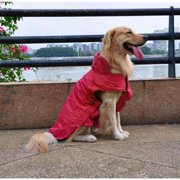 AGPtEK Waterproof Nylon Dog Winter Coat Jacket for Large Dogs - Red XL
