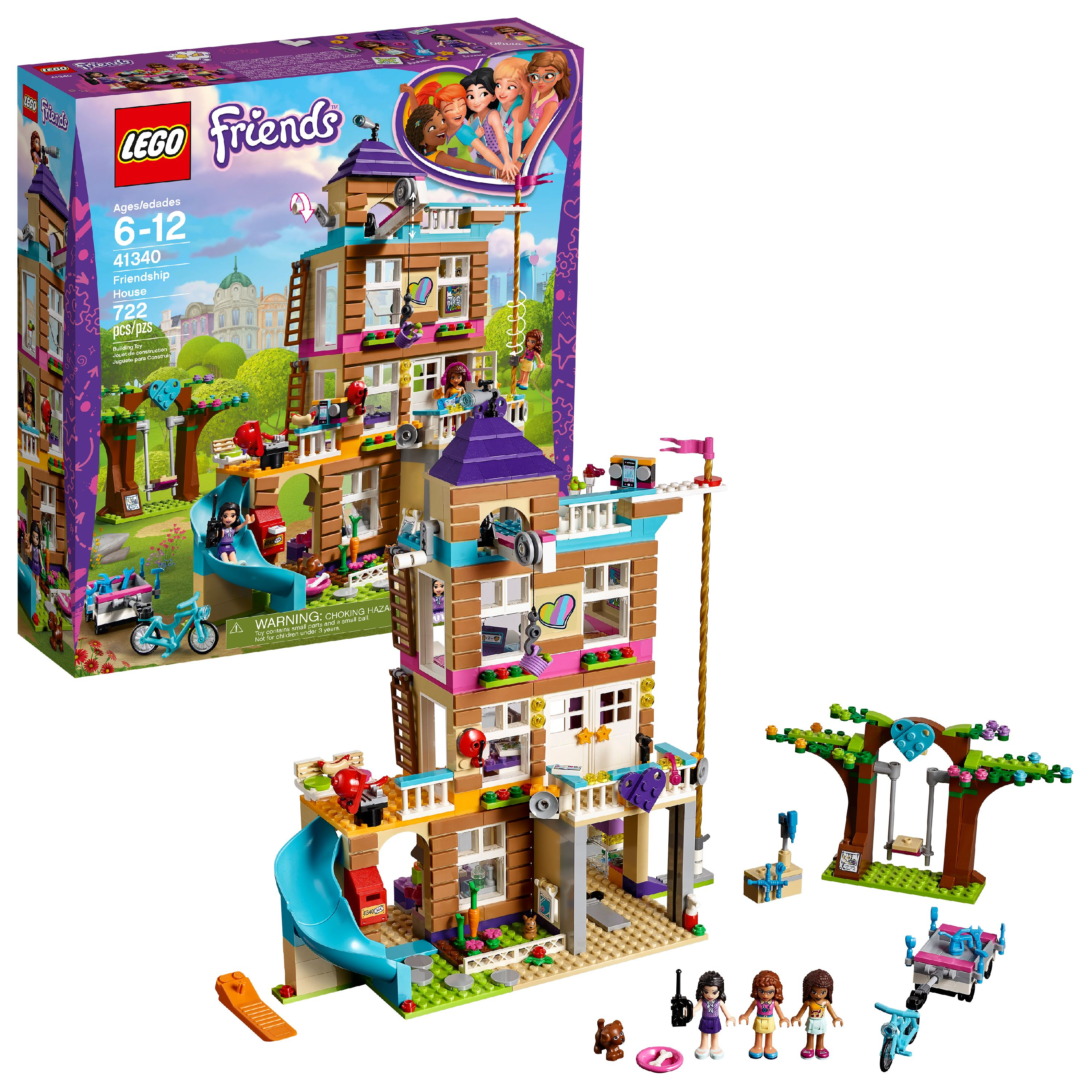 LEGO Friends Friendship House 41340 4-Story Building Set (722 Pieces)