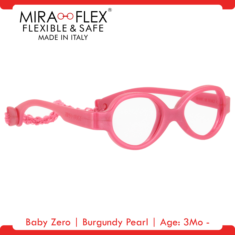Miraflex: Baby Zero Unbreakable Kids Eyeglass Frames | 31/15 - Pink | Age: 3Mo - 12Mo