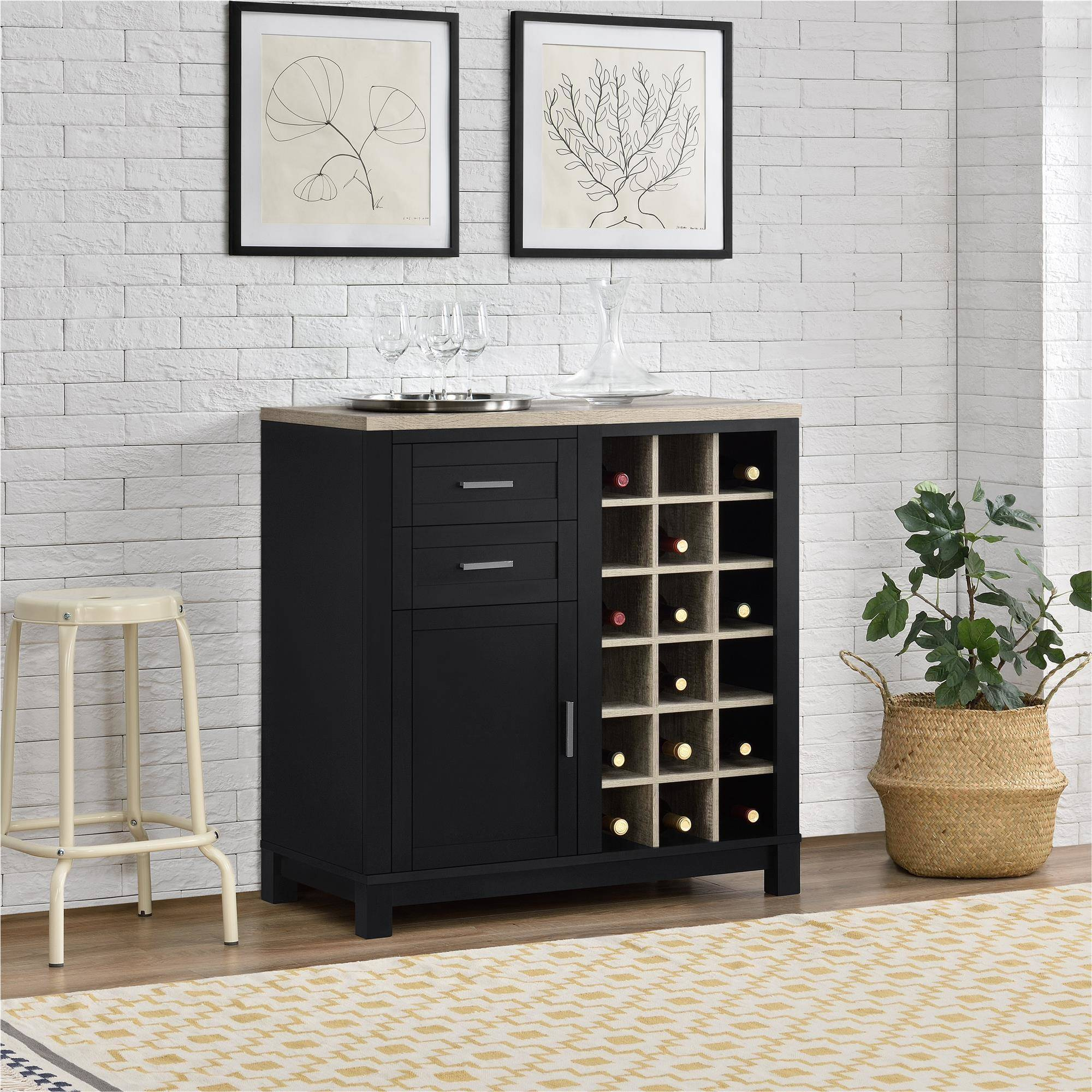 Better Homes and Gardens Langley Bay Wine Cabinet, Multiple Colors by Altra