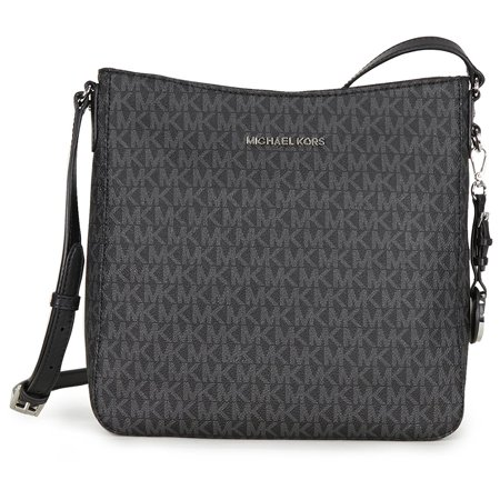 Michael Kors Jet Set Travel Large Logo Messenger - Black - -