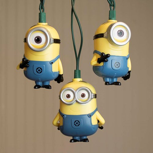 novelty string lights string lights despicable me minions kevin jerry outdoor 11 ft plug in walmartcom