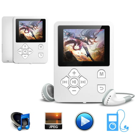 TSV MP3/MP4 Player, Support Photo Viewer, Expandable Up to 32GB, Mini USB Port 1.8 LCD, Digital MP3 Player, MP4 Player, Video/Media/Music (Port Authority2 Mp3)
