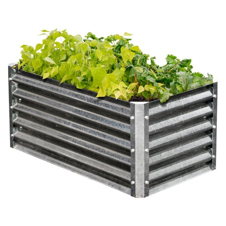 EarthMark Galvanized High Rectangular Raised Garden Bed ()