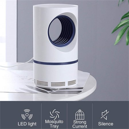 2Pcs USB Powered Mosquito Killer Light LED UV Silent Insect Trap Lamp with Suction Fan Pest Control Fly Catcher Anti-Mosquito