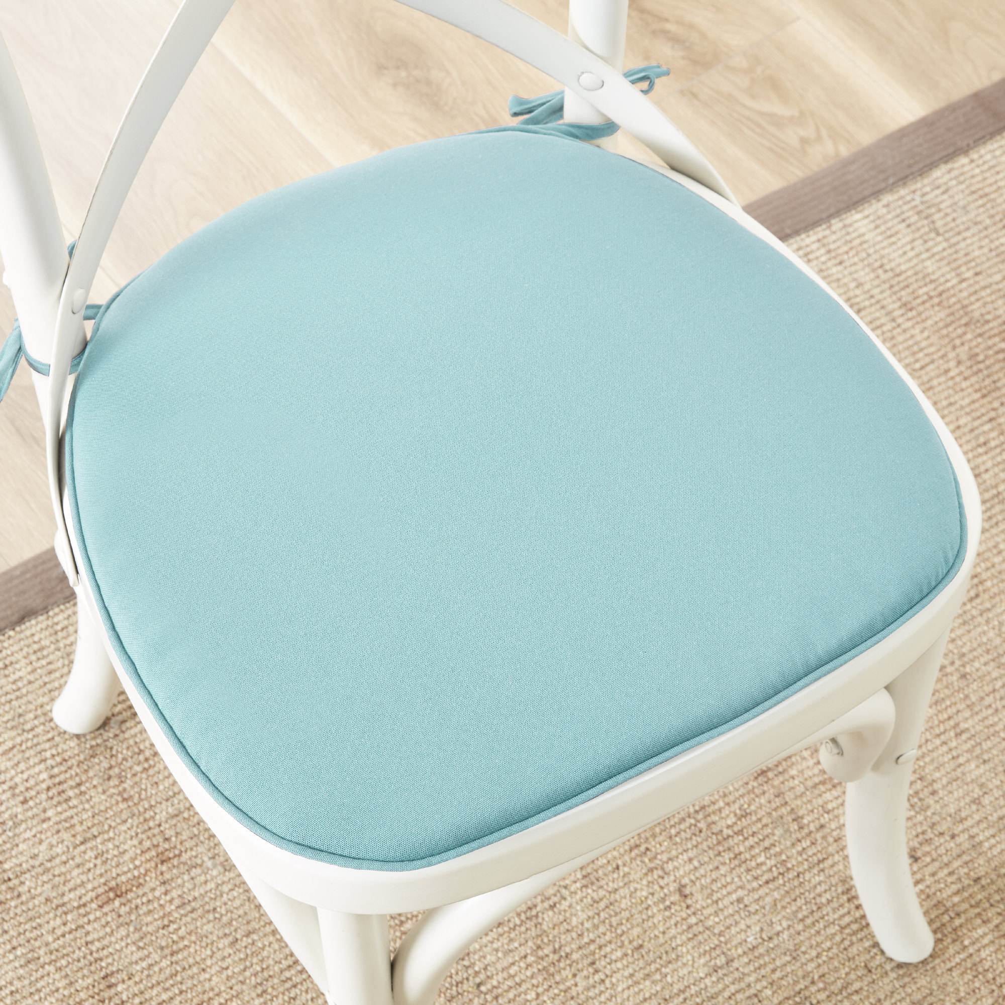 Home Essence Grove Solid 3M Scotchgard Indoor Outdoor Chair Pad Pair by E&E Co. Ltd