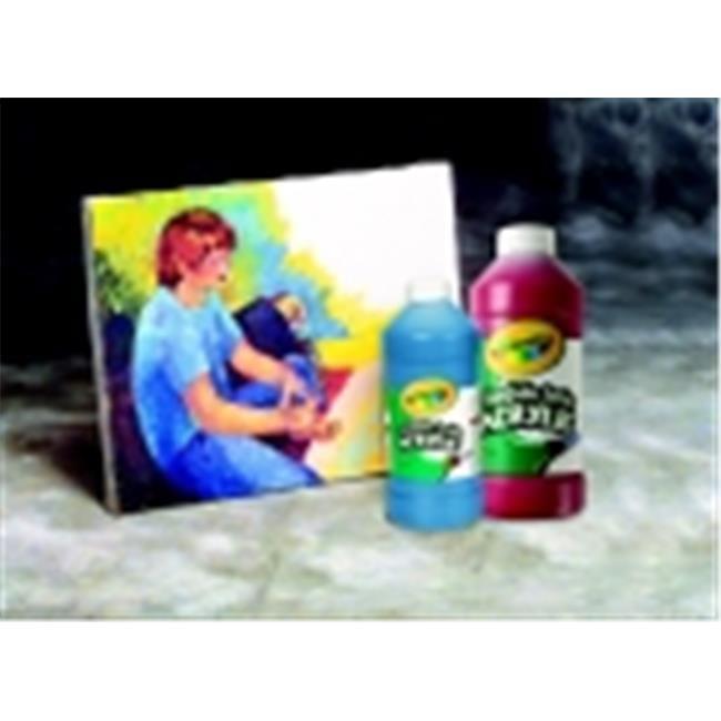 Crayola Portfolio Non-Toxic Acrylic Paint, 1 Pint Squeeze Bottle, Brilliant Orange