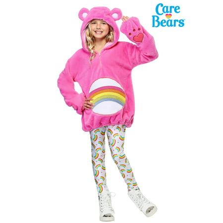 Care Bears Deluxe Cheer Bear Tween Hoodie Costume - Care Bear Costumes