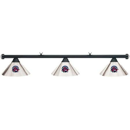 NBA Toronto Raptors Chrome Metal Shade & Black Bar Billiard Pool Table Light by