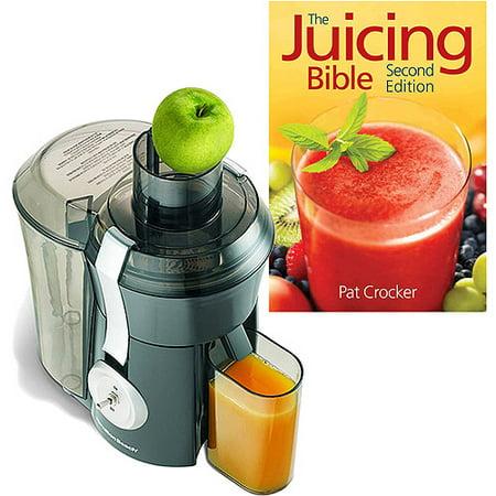 Hamilton Beach Big Mouth Juice Extractor with The Juicing Bible Bundle (Juicer Baby)
