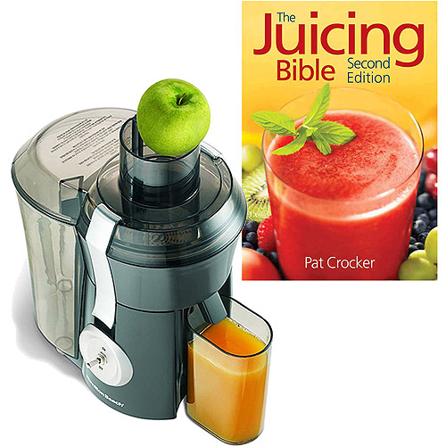 Hamilton Beach Big Mouth Juice Extractor with The Juicing Bible Bundle