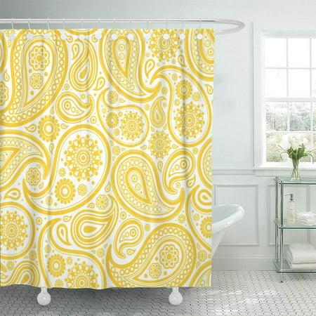 XDDJA Damask Yellow Paisley Floral Elegant Modern Shower Curtain 60x72 inch - image 1 of 1