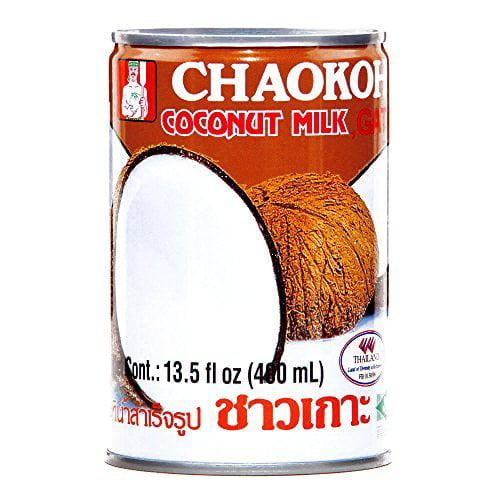 Chaokoh Coconut Milk 13.5 oz each (4 Items Per Order) by