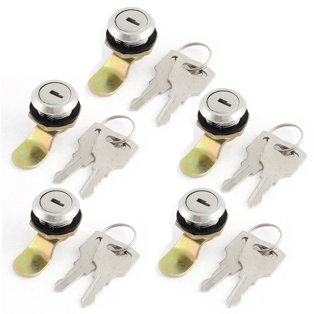 5 Pcs Box File Cabinet Drawer Cylinder Cam Locks