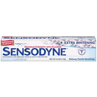 Sensodyne Extra Whitening Maximum Strength Toothpaste With Fluoride - 6 Oz, 6 Pack