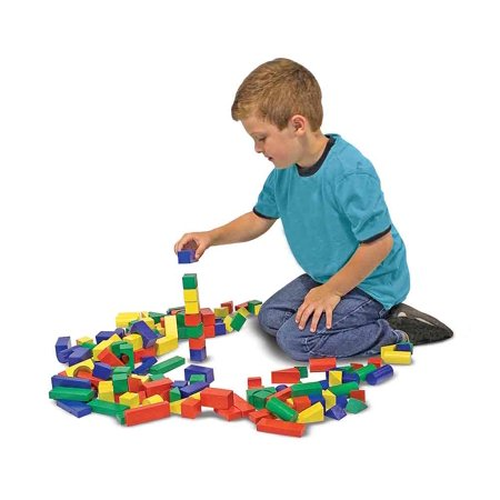 Melissa & Doug - 100 Wood Building Blocks Set - image 1 de 1