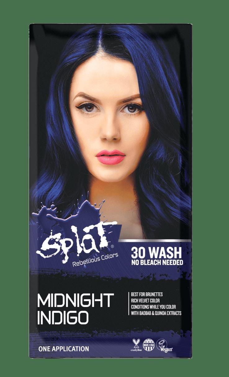 Splat Midnight Indigo Hair Dye Semi Permanent Blue Hair Color Walmart Com Walmart Com