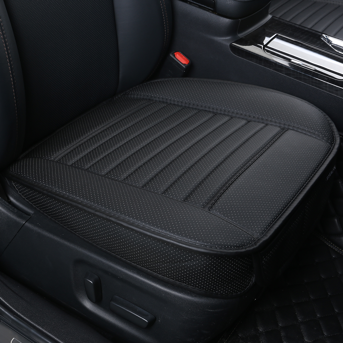 """Edealyn F-002 Series Ultra-Luxury PU Leather Vehicle Seat Cover (W20"""" x D20"""" and 0.4"""" in Thickness), Single Piece"""