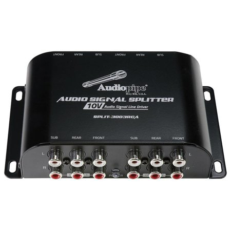 Audiopipe Multi-audio Amplifier 3 Rca Outputs W/bulit In 10v Line