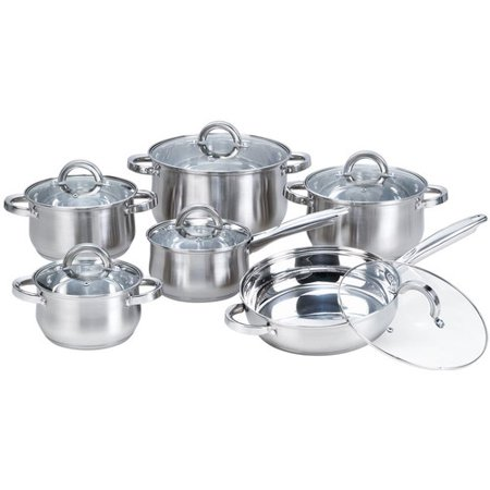Best Desu, Inc. Heim Concepts 12-Piece Stainless Steel Cookware