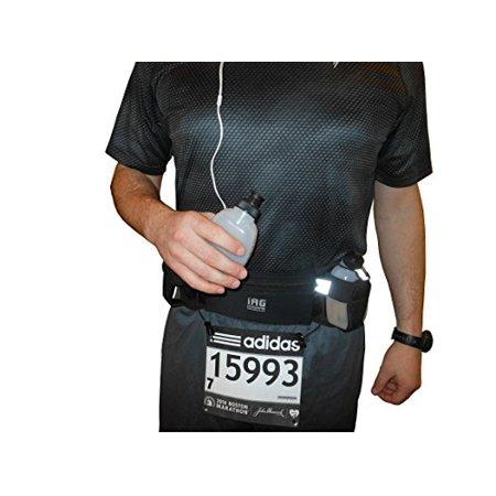 iACTIVEGO Running Belt: (2) Leak-Free Hydration Bottles, Adjustable