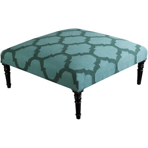 SURYA FL1005 Wool Upholstered Square Ottoman