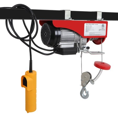 Zeny 440LBS Lift Electric Hoist Crane Industrial Commercial Chain Winch Wire Cable Hoist Garage Auto Shop W/Remote Control