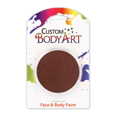Custom Body Art 18ml Brown FACE PAINT Painting Makeup Parties Halloween](Easy Face Paintings For Halloween)