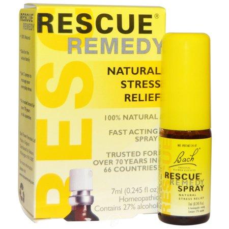 Bach Flower Essences Rescue Remedy Spray 7 Ml, Pack of 2