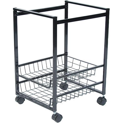 """Advantus Mobile File Cart with Sliding Baskets, 15""""W x 12-7/8""""D x 20-7/8""""H, Black"""