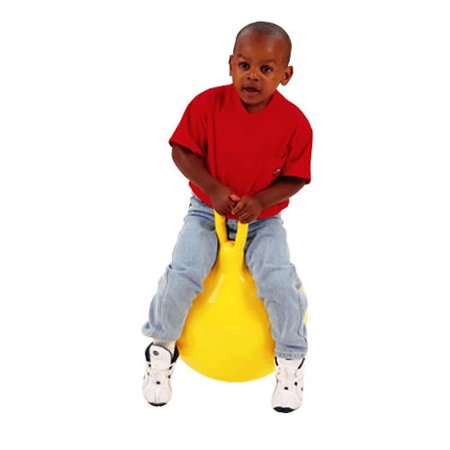 18 Inch Yellow Hop Ball - Hop 45 (Yellow) 18 Inch - Outdoor Fun Toys by Toy Marketing (8045)