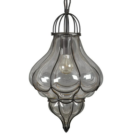 Yosemite Home Decor SCPL2042-1BK Mini Pendant Light